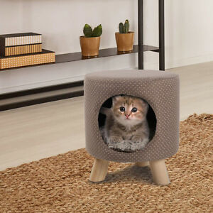 Cat-Condo-Pet-Kitty-Play-House-Supplies-Tree-Cave-Shape-Post-Furniture