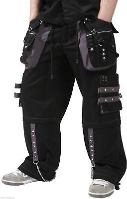 New Dead Threads  Black  Men Trousers Cotton Studs Holes Metal Punk Emo Rock
