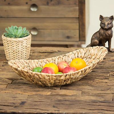 50 cm Water Hyacinth Fruit Bowl Bread Basket Storage Dish dining table pot pourri
