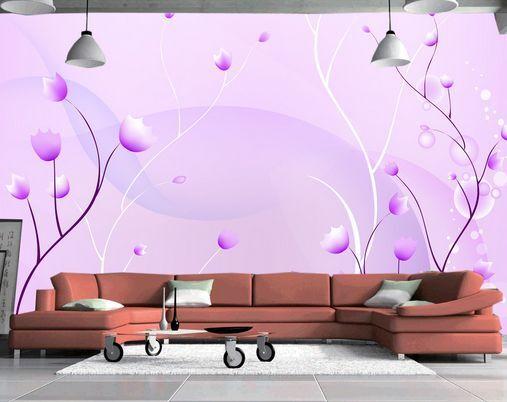 3D fiori lila 23 Parete Murale Carta da parati immagine sfondo muro stampa