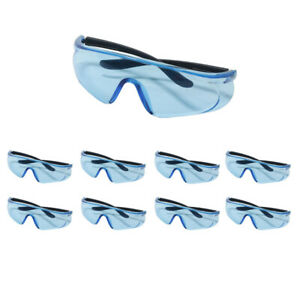 8PCS Safety Glasses Protective Goggle for Dart War Kids Outdoor Games Clear Lens