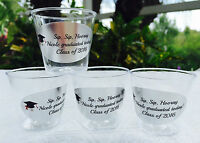 50 Personalized 1oz. Plastic Shot Cups For Graduation Party Favors Or Supply