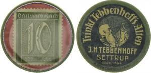 Germany Briefmarkenkapselgeld 10 Pfennig Xf-Bu 51780