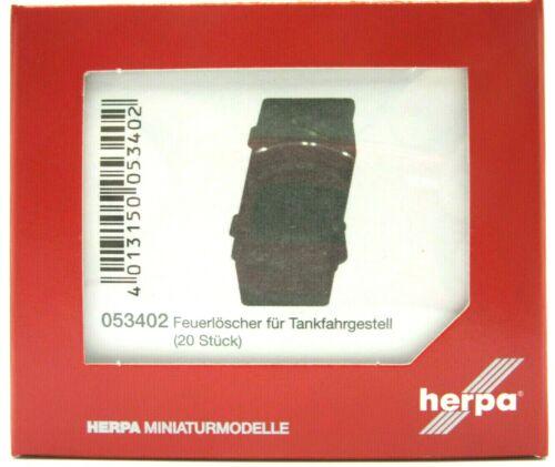 20 Stück rot #053402 HERPA Zubehör 1:87//H0 Feuerlöscher für Tankfahrgestell