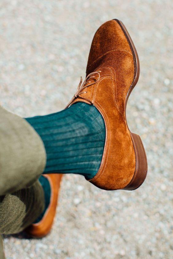 Handmade hommes Tan Couleur chaussures en daim, hommes Oxford chaussures en daim, homme mode chaussures