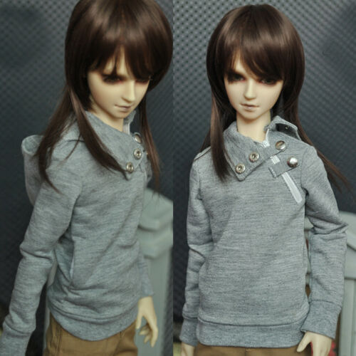 PF Grey Hoodie For SD17 1//3 1//4 Boy Male BJD Doll Dollfie Outfit