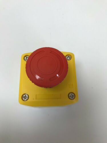 1 X EMERGENCY STOP BUTTON SURFACE YELLOW ENCLOSURE TWIST TO RELEASE