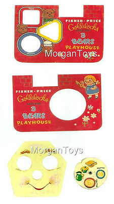 Vintage FISHER-PRICE GOLDILOCKS & the 3 BEARS REPLACEMENT LITHOS STICKERS #151