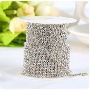 1-row-2-row-3-row-1Yard-Silver-Crystal-Rhinestone-Close-Chain-Trim-DIY-Exquisite