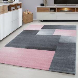 Modern Geometric Rug Pink And Grey
