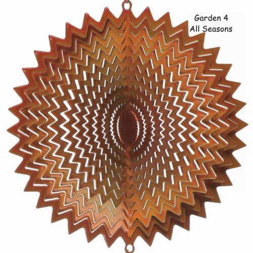 "12/""//30cm Stainless Steel GOLD SPLASH//WHIRL Wind Spinner Sun Catcher Hook Garden"