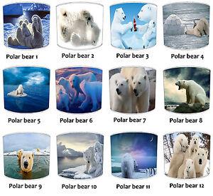 Infantil-Oso-Polar-Pantallas-de-Lampara-Para-Combinar-Adhesivos-pared-amp-Pegatina