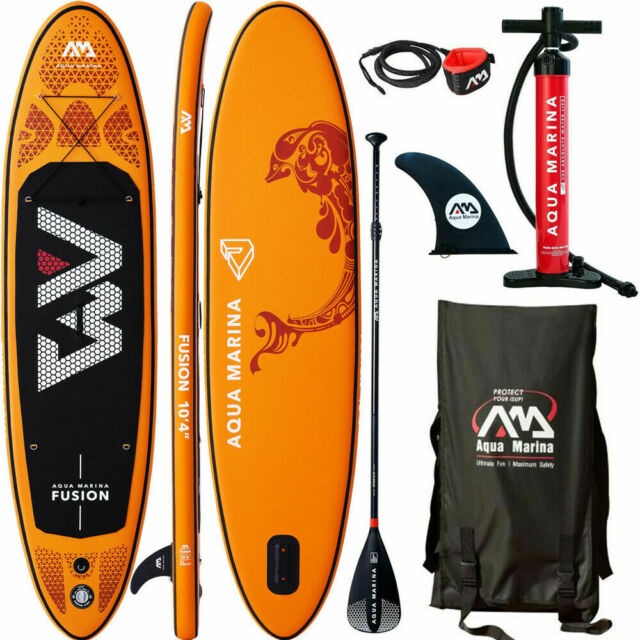Aqua Marina Fusion Sup Board Stand Up Paddling Surfboard Leash Pagaie Isup 2019
