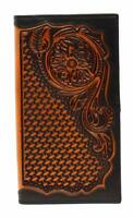 Ariat Western Mens Wallet Leather Rodeo Floral Design Brown A3528867