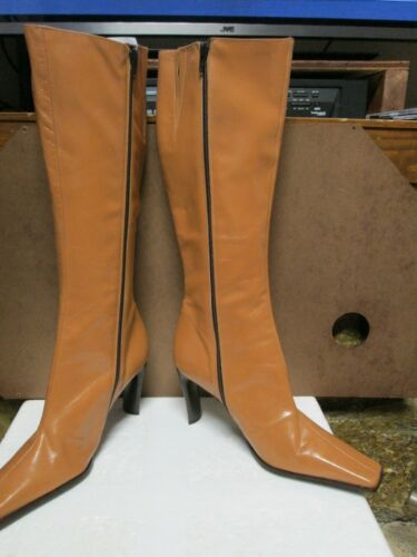 Guess Tan High 5 Boots 8 Leather Size Knee 1Tq1wdrC