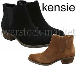 0cb603f04a2 NEW WOMENS KENSIE GARRY SUEDE ANKLE BOOTIE SHORT HEEL BOOTS VARIETY ...