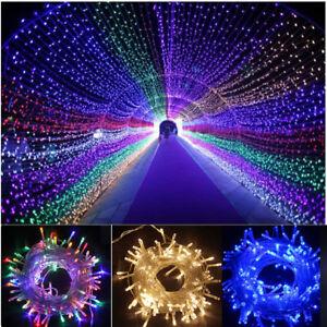 20-30-50-100M-LED-Lichterkette-Beleuchtung-Aussen-Innen-Hochzeit-Party-Dekoration