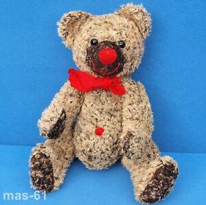 TEDDY-TEDDYBAR-30-CM-STOFFTIER-ROTE-NASE-GEGLIEDERT-BEAR-BAR