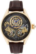 Rougois Men's Bronze Finish Regal Double Escapement Automatic Watch