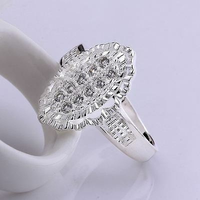 925 Sterling Silver best women wedding Gorgeous Fashion Austria crystal Ring BOX