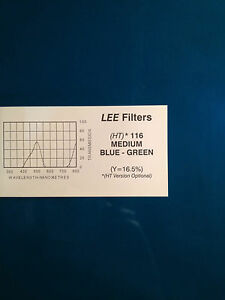 Image is loading Lee-Filters-L116-HT-Medium-Blue-Green-Lighting- & Lee Filters L116 HT Medium Blue-Green Lighting Gel Sheet 21