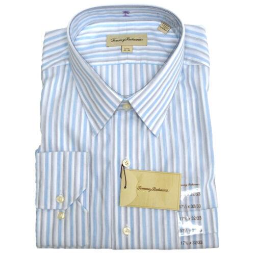 Tommy Bahama Dress Shirt Mens Stripes Plaid Long Sleeve Cotton New V020