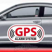 2 ADESIVI ANTIFURTO - GPS - VETRO INTERNO auto FIAT 500 PANDA PUNTO   #01