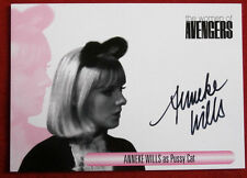 """The Women Of """"THE AVENGERS"""" - Anneke Wills as Pussy Cat - Autograph Card WAAW"""