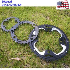 104-64bcd-Double-Triple-10S-Aluminum-24-26-32-38-42t-MTB-Bike-Crankset-Chainring