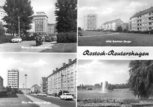 AK, Rostock Reutershagen, vier Abb., 1976