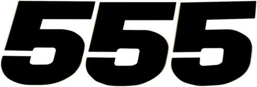 N-Style NStyle 7in 7 Inch WIDE FORMAT Number 5 Five Decals Black Sx Pro
