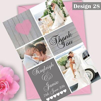 Foto Personalizzata Matrimonio Ringraziamenti Piatto O Con Risvolto Buste Prova Gratuita- In Molti Stili