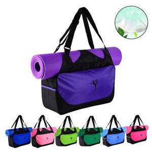 Yoga-Mat-Bag-Tote-Holder-Waterproof-Sport-Duffle-Carrying-Gym-Fitness-Handbag