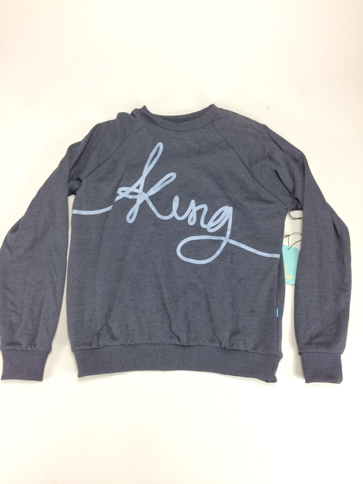King Clothing Signature Crew Sweatshirt In Blau Größes S XL