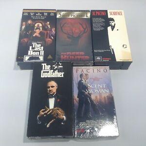 LOT 5 DeNiro Al Pacino VHS Tapes Gangster Crime GODFATHER Scarface DEER HUNTER