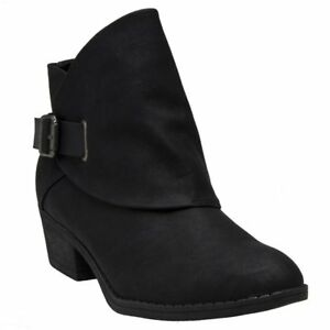 fibbia con Blowfish Boots Womens Black New Pu alla Sill caviglia Zip 8agqnwZx