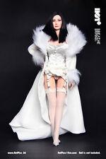 HotPlus White Evening Lingerie & Night Robe for 1:6 Female Figure Accessory #025