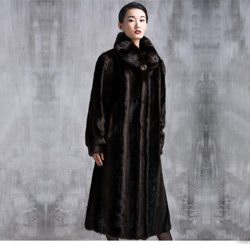 Plus Size Women's Fur Parka Coat Long Trench Winter Outwear Overcoat Luxury &03