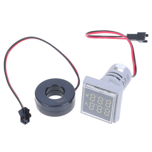ZV Digital LED Dual Display Voltmeter Ammeter Voltage Gauge Meter AC 60-500V 0