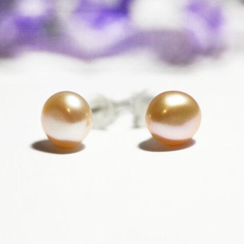 Mini-Perlenohrstecker weiß Schmuckbeutel GRATIS! Süßwasser Perlen Ohrringe