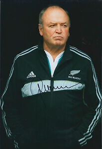 Graham-HENRY-Signed-Autograph-12x8-Photo-AFTAL-COA-RUGBY-All-Blacks-New-Zealand