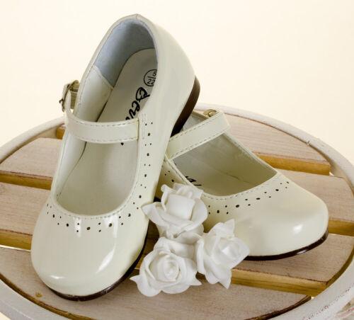 Entièrement neuf dans sa boîte filles Mary Jane espagnol Look Chaussures vernies en Bourgogne