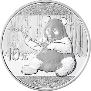 China-10-Yuan-Silber-2017-Stgl-30-Gramm-Silbermuenze-China-Panda-in-Muenzkapsel