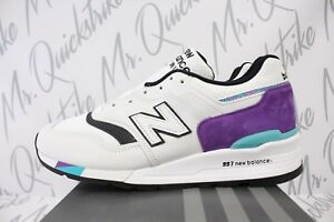 20db6861c2c05 NEW BALANCE 997 MADE IN THE USA SZ 13 WHITE PURPLE BLACK TEAL ...