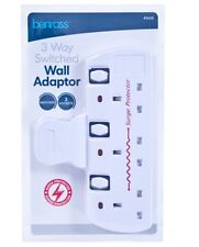13 AMP 3 WAY PLUG IN SOCKET MAINS SWITCHED ADAPTOR SURGE PROTECTOR SPIKE 45610