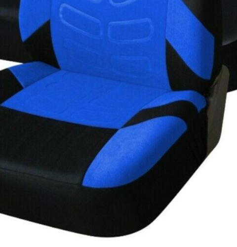 For Vauxhall Opel Blue Black Soft Fabric Front /& Rear Car Seat Covers Full Set