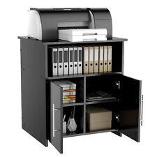 Printer Stand Storage Home Office Cabinet Wooden Under Desk Cabinet With Door