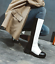 Fashion-Womens-Knee-high-Boots-PU-Leather-Chunky-Heel-Side-Zip-Round-Toe-Shoes thumbnail 11