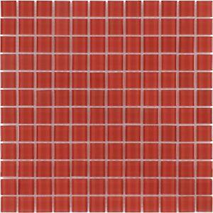 Superbe Details About Modern Uniform Squares Red Glass Mosaic Tile Backsplash  Kitchen Wall MTO0360