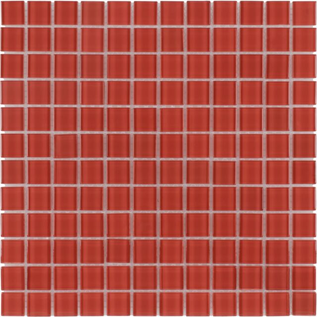 Attirant Modern Uniform Squares Red Glass Mosaic Tile Backsplash Kitchen Wall MTO0360